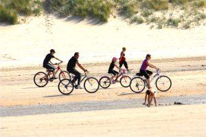 vélo de location à la plage de Moliets