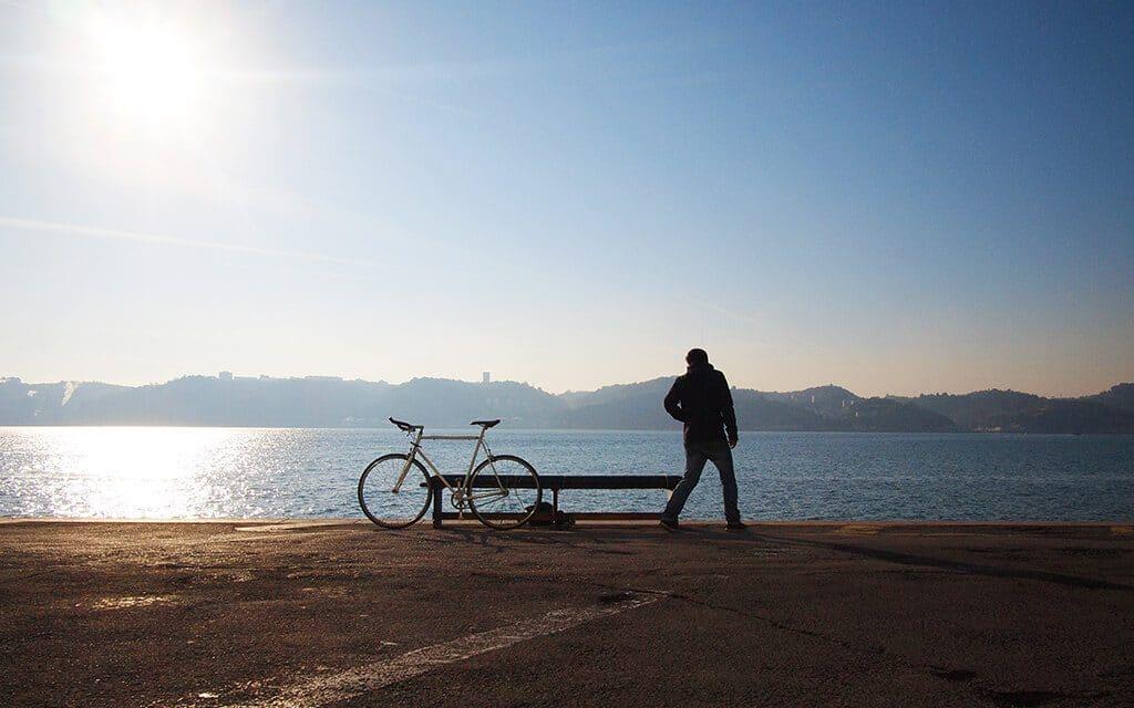 vélos au Lac de Léon