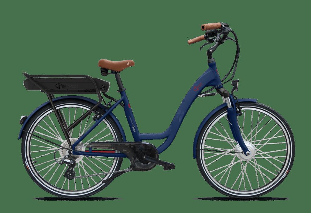 VAE VOG D7 bleue. Disponible chez la Cyclerie dans les Landes